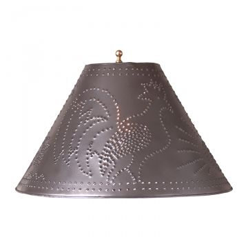 Country new blacken tin Betsy ross table lamp w// punched tin STAR shade