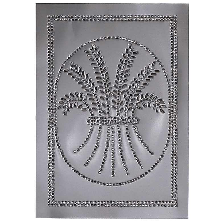 Vertical Wheat Cabinet Panel Insert In Country Tin Irvin